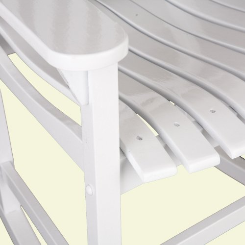 Southern Enterprises Eucalyptus Porch Rocker, White
