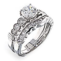 Women's Wedding Cubic Zirconia Ring, Size: 5-10