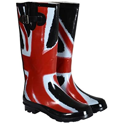 Ladies Glossy Funky Festival Wellies Wellington Boots