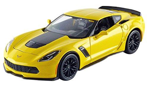 maisto-31133y-chevrolet-corvette-z06-2015-echelle-1-24-jaune-noir