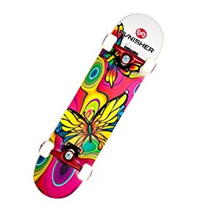 Buy Punisher Skateboards Butterfly Jive Complete 31-Inch Skateboard with Canadian Maple by Punisher Skateboards