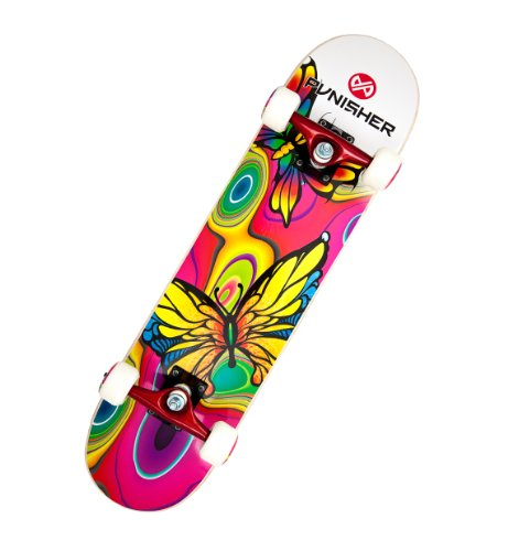 Check Out This Punisher Skateboards Butterfly Jive Complete 31-Inch Skateboard with Canadian Maple