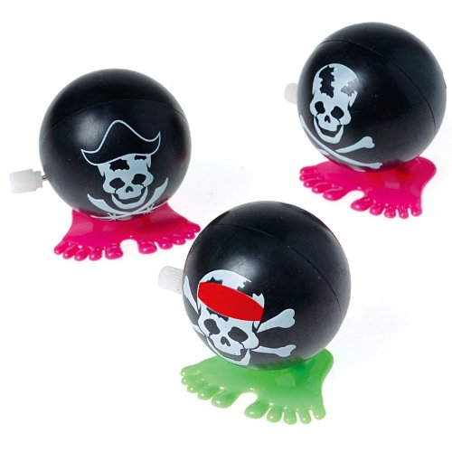 Wind Up Hopping Pirate Balls