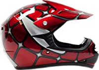 Youth Offroad Helmet DOT Motocross ATV Dirt Bike MX Motorcycle Spiderman Red , X-Large by Typhoon Helmets