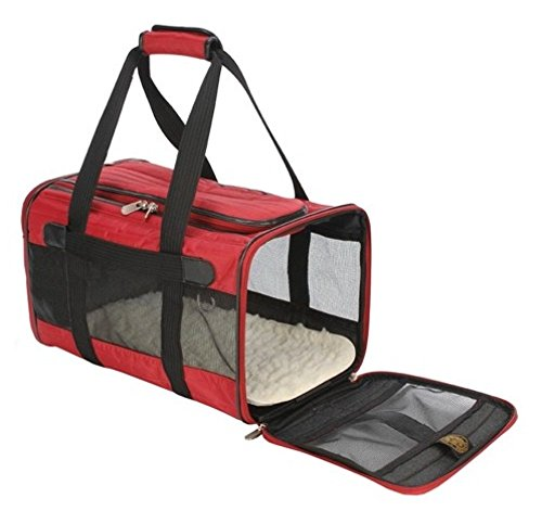 SHERPA Original Deluxe Pet Carrier (Medium, Red)