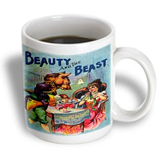 Florene Fairies - Fantasy - Image Of Vintage Beauty And The Beast In Color - 11Oz Mug (Mug_171635_1)