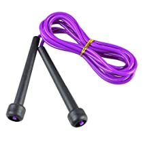 CommonByte Purple Plastic Exercise Fitness Skipping Skip Jump Rope 270cm