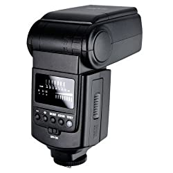 Simpex 999 Power zoom Flash, synchro socket & cable, tripod mount, powe zoom 24mm-105mm,