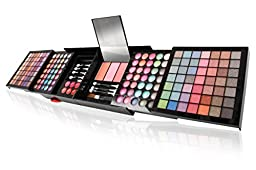 Ivation All-in-One Makeup Kit Gift Set - Collection of Eyeshadows, Blushes, Powders, Eyeliners, Lip Glosses & More