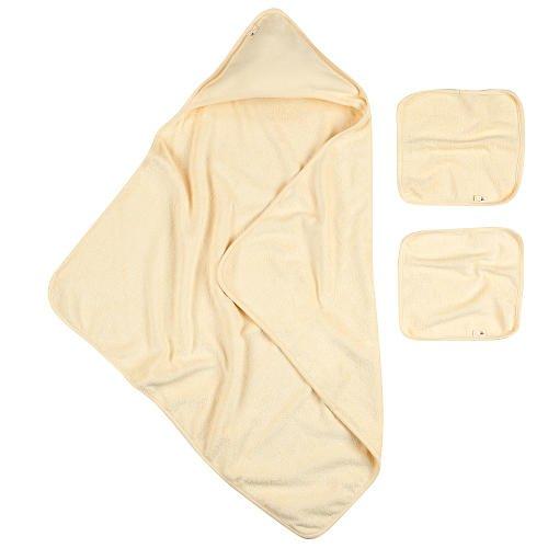 Burt's Bees Baby Organic Hooded Towel and Washcloth Set - Natural Cream