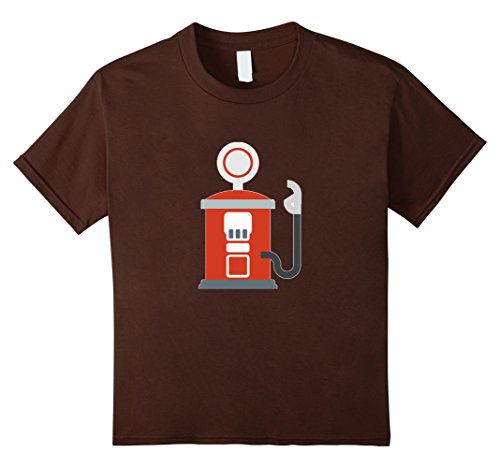 Kids Gas Station Emoji T-Shirt Car Truck Fuel Pump Oil Coal Self 6 Brown (Gas Station Shirt compare prices)