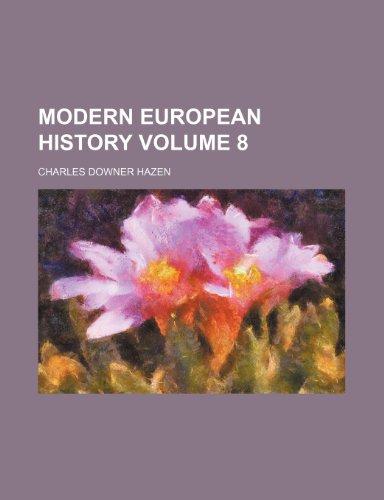 Modern European history Volume 8