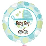 Baby Boy Buggy Foil Balloon - 18