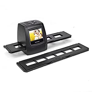 """SainSonic FS-02 LCD Scanner de Diapositive et Négatif Numériseur Style de Diaporama 35mm avec LCD Ecran 2.3"""" 5MP pour Garder les Mémoires Précieuses (Téléchargement de la Notice Française Disponible sur la Description)"""