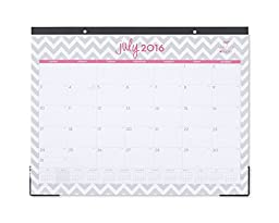 Dabney Lee Ollie Academic Year Monthly 22 x 17 Desk Pad Calendar, Jul 2016 - Jun 2017