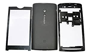 TOTTA Replacement Full Body Housing Back, Body Panel For Sony Ericsson Xperia X10- Black