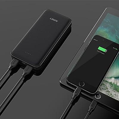 AUKEY モバイルバッテリー 大容量 20000mAh USB Type-C入力 / 出力 USB急速充電器 iPhone 8 / iPhone X / iPhone 7 Plus / iPhone 7 / iPhone6S / Samsung Galaxy / Nexus 5X / Nexus 6P / HUAWEIなど各種機種対応 PB-Y11