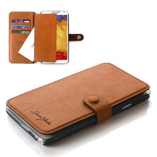 Tridea Samsung Galaxy Note 3 Italian Wallet Case - Brown