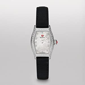 Michele Watches, Women's Urban Coquette Pav Diamond, Diamond Dial Black Grosgrain