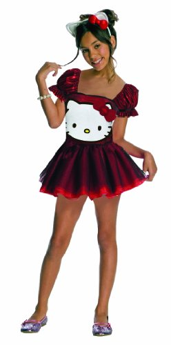 Hello Kitty Sequin Hello Kitty Dress Child Costume - Large front-508957