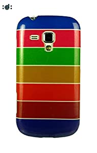 Dressmyphone Rainbow Soft TPU Jacket for Samsung Galaxy S Duos 2 S7582   Multicolor available at Amazon for Rs.349