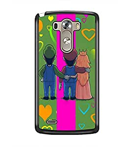PrintDhaba Betrayed Love D-2476 Back Case Cover for LG G3 (Multi-Coloured)