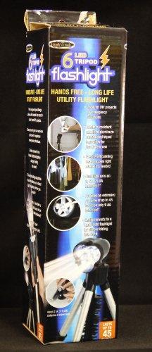 Super Brightt Six Led Tripod Flashlight - Convertible