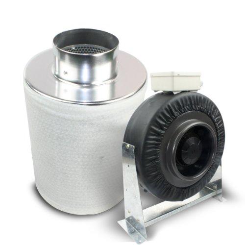 Cheap VenTech 4″ inch Inline Duct Fan Exhaust Fan blower 190CFM with Carbon Filter Combo Scrubber (Fan4″Combo)