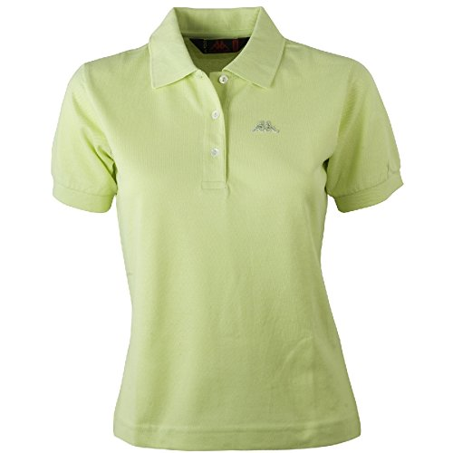 Robe Di Kappa - Polo T-Shirt Maglia Donna Piquet Stretch Mare Sport Art. Golovin - Colore: Lime - Xl