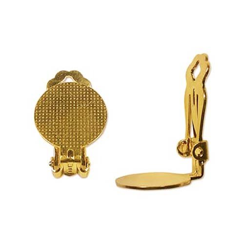 Beadaholique Clip On Earring Findings with Pad for Gluing, 15mm, 22K Gold, Pair of 3 (Clip Earring Findings compare prices)