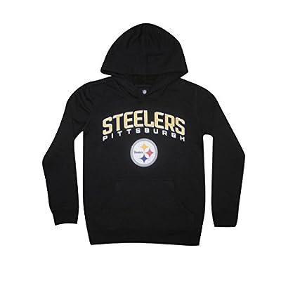 NFL Youth PITTSBURGH STEELERS: Athletic Pullover Hoodie / Sweatshirt