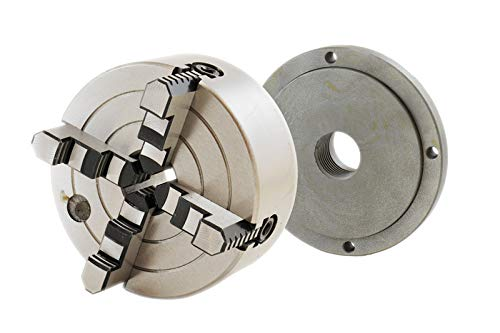 SHARS 6 4 JAW INDEPENDENT LATHE CHUCK + 1-1/2 - 8 BACK PLATE 202-6579+202-6600 R