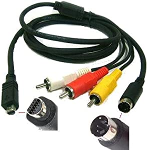 AV Cable TV Lead for Sony VMC-15FS, VMC-15FS (Fits: DCR-DVD Series :-DCR-DVD7E, DCR-DVD91E, DCR-DVD92E, DCR-DVD93E, DCR-DVD101E, DCR-DVD105E, DCR-DVD106E, DCR-DVD108E, DCR-DVD109E, DCR-DVD110E, DCR-DVD150E, DCR-DVD201E, DCR-DVD202E, DCR-DVD203E, DCR-DVD205E, DCR-DVD310E, DCR-DVD304E, DCR-DVD305E, DCR-DVD306E, DCR-DVD308E, DCR-DVD403E, DCR-DVD404E, DCR-DVD405E, DCR-DVD406E, DCR-DVD410E, DCR-DVD450E, DCR-DVD505E, DCR-DVD506E, DCR-DVD602E, DCR-DVD608E, DCR-DVD653E, DCR-DVD703E, DCR-DVD705E, DCR-DVD708E, DCR-DVD755E, DCR-DVD803E, DCR-DVD805E, DCR-DVD905EDCR-DVD7, DCR-DVD91, DCR-DVD92, DCR-DVD93, DCR-DVD101, DCR-DVD105, DCR-DVD106, DCR-DVD108, DCR-DVD109, DCR-DVD110, DCR-DVD150, DCR-DVD201, DCR-DVD202, DCR-DVD203, DCR-DVD205, DCR-DVD310, DCR-DVD304, DCR-DVD305, DCR-DVD306, DCR-DVD308, DCR-DVD403, DCR-DVD404, DCR-DVD405, DCR-DVD406, DCR-DVD410, DCR-DVD450, DCR-DVD505, DCR-DVD506, DCR-DVD602, DCR-DVD608, DCR-DVD653, DCR-DVD703, DCR-DVD705, DCR-DVD708, DCR-DVD755, DCR-DVD803, DCR-DVD805, DCR-DVD905DCR-HC Series :-DCR-HC18E, DCR-HC19E, DCR-HC20E, DCR-HC21E, DCR-HC22E, DCR-HC23E, DCR-HC24E, DCR-HC26E, DCR-HC27E, DCR-HC30E, DCR-HC32E, DCR-HC35E, DCR-HC36E, DCR-HC37E, DCR-HC39E, DCR-HC40E, DCR-HC42E, DCR-HC44E, DCR-HC46E, DCR-HC51E, DCR-HC53E, DCR-HC62E, DCR-HC85E, DCR-HC90E, DCR-HC94E, DCR-HC96E, DCR-HC1000EDCR-HC18, DCR-HC19, DCR-HC20, DCR-HC21, DCR-HC22, DCR-HC23, DCR-HC24, DCR-HC26, DCR-HC27, DCR-HC30, DCR-HC32, DCR-HC35, DCR-HC36, DCR-HC37, DCR-HC39, DCR-HC40, DCR-HC42, DCR-HC44, DCR-HC46, DCR-HC51, DCR-HC53, DCR-HC62, DCR-HC85, DCR-HC90, DCR-HC94, DCR-HC96, DCR-HC1000DCR-IP Series :-DCR-IP1E, DCR-IP5E, DCR-IP7E, DCR-IP45E, DCR-IP55E, DCR-IP210E, DCR-IP220EDCR-IP1, DCR-IP5, DCR-IP7, DCR-IP45, DCR-IP55, DCR-IP210, DCR-IP220DCR-PC Series :-DCR-PC53E, DCR-PC55E, DCR-PC100E, DCR-PC103E, DCR-PC105E, DCR-PC330E, DCR-PC1000EDCR-PC53, DCR-PC55, DCR-PC100, DCR-PC103, DCR-PC105, DCR-PC330, DCR-PC1000DCR-SR Series :-DCR-SR30E, DCR-SR32E, DCR-SR33E, DCR-SR35E, DCR-SR36E,