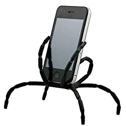 8 Leg Cell Phone Spider Holders Bicycle Mobile Phone Support(Black)
