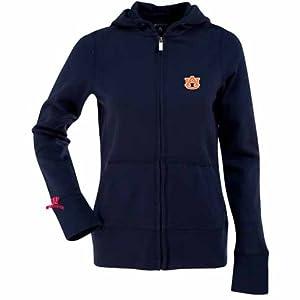 Auburn Ladies Zip Front Hoody Sweatshirt (Team Color) by Antigua