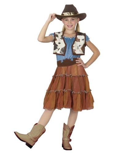 Fun World PE350293-S Cowgirl Kids Costume Size Small