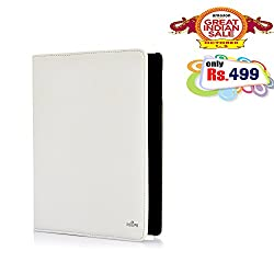 RSAFE Anti-Radiation 360 Degree Rotating PU Leather Smart Case Cover For Apple Ipad 4 (white)