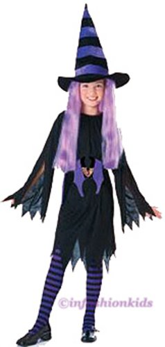 Girls Witch Costumes - Drucilla - with tights