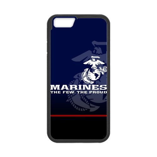 "Us Marine Corps Iphone 6 4.7"" Case Customize Usmc Deep Blue Cases Cover (Laser Technology)"