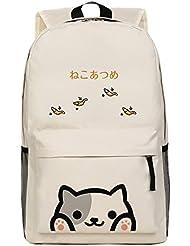 Japanese Game Neko Atsume ねこあつめ Cute Cat Backyard Kitty Collector Shoulder Bag Backpack School Bag D