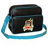 Paul Frank Monkey Face Holdall Messenger Shoulder Vintage Despatch Bag Back To School College Black & Blue Monkey Crossbones