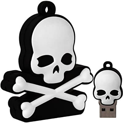 Cnl 8gb Skull And Cross Bones Novelty Usb 2.0 Data Flash Drive Memory Stick Device from Checknet London