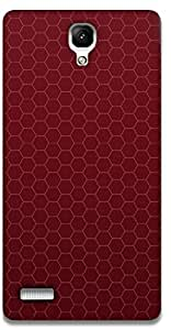 The Racoon Lean printed designer hard back mobile phone case cover for Xiaomi Redmi Note Prime. (RED HONEYC)