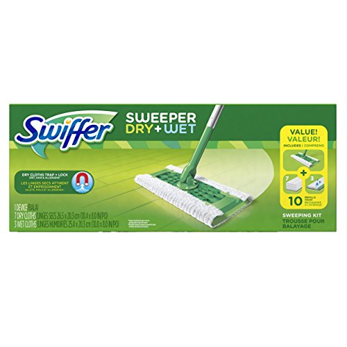 Swiffer Sweeper Floor Mop Starter Kit, 7 Dry Cloths and 3 Wet Cloths (Wet Mop Swiffer compare prices)