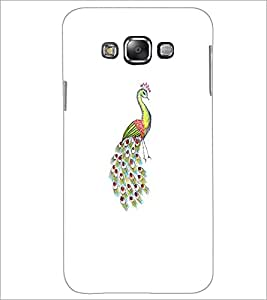 PrintDhaba Peacock D-4745 Back Case Cover for SAMSUNG GALAXY GRAND 3 (Multi-Coloured)