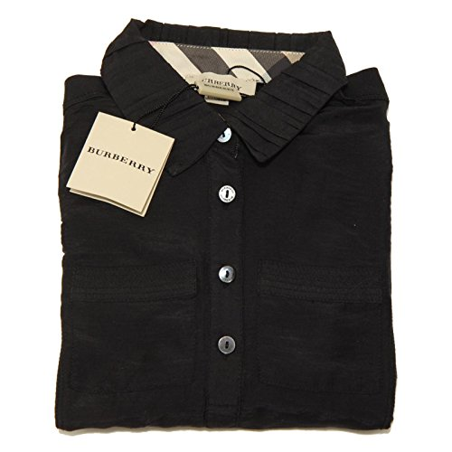 6797F polo nera BURBERRY MANICA LUNGA MODAL maglia bimba t-shirt kids [5 YEARS]