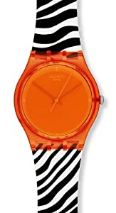 Swatch Damen-Armbanduhr Orange Zeb Go107