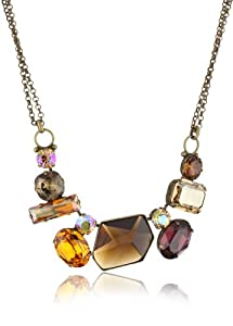 "Sorrelli ""Maple Syrup"" Modern Facets Bold Crystal Goldtone Necklace"