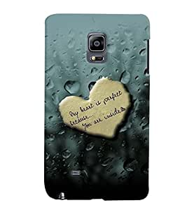 PrintVisa Romantic Love Quotes 3D Hard Polycarbonate Designer Back Case Cover for Samsung Galaxy Note Edge