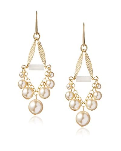 David Aubrey Hadrien Simulated Pearl & Agate Earrings
